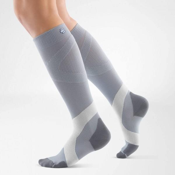 Bauerfeind - Compression Sock Training ( Gris et blanc)