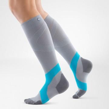 Bauerfeind - Compression Sock Training (Gris et Bleu)